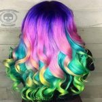 آموزش قدم به قدم رنگ کردن موها به صورت هفت رنگ + عکس