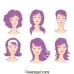 مدلهای مختلف مو برای فرم صورت
