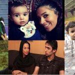 عکس پوریا فیاضی و همسرش مهتا محمدی و دخترش جانان فیاضی