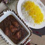 آموزش طرز تهیه خورشت فسنجان مجلسی با گوشت و خورشت فسنجان مرغ