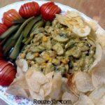 خوراک قارچ و گوشت + طرز تهیه خوراک قارچ و سیب زمینی