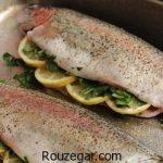 ماهی قزل آلا شکم پر سرخ شده + طرز تهیه ماهی قزل آلا شکم پر در فر