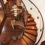 راه پله های گردون و چوبی مدرن در منازل دوبلکس