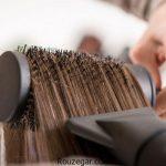 نحوه درست سشوار کشیدن مو