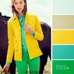 ست کردن لباس های رنگی