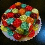 تزیین ژله رولی + آموزش طرز تهیه ژله رولی گل رز دو رنگ