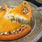کنافه پنیری ترکی خوشمزه خانگی + طرز تهیه کنافه پنیری عربی در فر