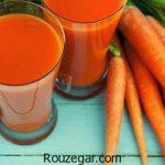 خواص آب هویج ناشتا + مضرات آب هویج و خواص آب هویج برای پوست