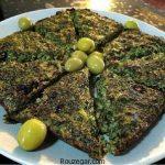 سبزی کوکو خوشمزه + طرز تهیه سبزی کوکو مجلسی