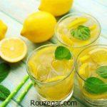 شربت لیموناد خانگی با لیمو تازه + طرز تهیه شربت لیموناد نعنایی گازدار