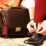 انواع مدل های جدید ست کیف و کفش چرم مردانه 96- 2017