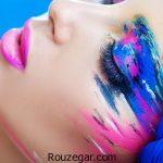 آرایش چشم با طرح ها و رنگ های مختلف+ عکس