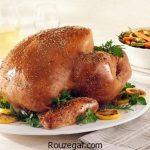 مرغ بریان شکم پر + طرز تهیه مرغ بریان مجلسی و خوشمزه در فر