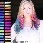 نکاتی درباره رنگ موهای موقت