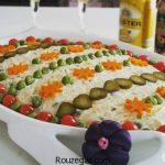 سالاد الویه مجلسی + طرز تهیه سالاد الویه خوشمزه برای 15 نفر