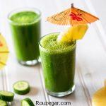 طرز تهیه چند نوع اسموتی سبز +فواید نوشیدن اسموتی های سبز رنگ