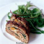 رولت گوشت مجلسی + طرز تهیه رولت گوشت رستورانی با پنیر پیتزا