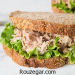 ساندویچ تن ماهی و پنیر + طرز تهیه ساندویچ تن ماهی و قارچ