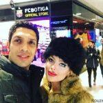عکس جدید و عاشقانه سپهر حیدری و همسرش