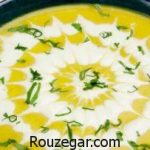 آموزش طرز تهیه سوپ تره فرنگی با جو و راز خوشمزه شدن سوپ تره فرنگی