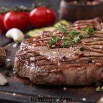 استیک گوشت گوساله خوشمزه + طرز تهیه استیک گوشت گوساله با سس قارچ