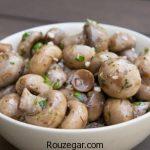 ترشی قارچ و زیتون درسته + طرز تهیه ترشی قارچ خوشمزه خانگی